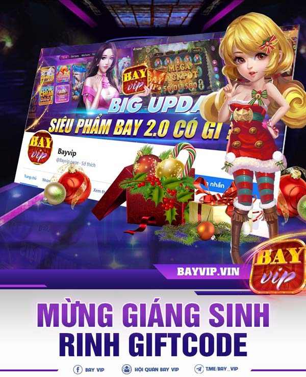 bayvip.vin mừng giáng sinh rinh giftcode